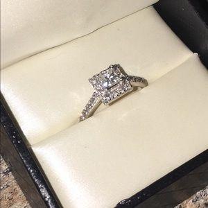 Diamond engagement ring , size 7